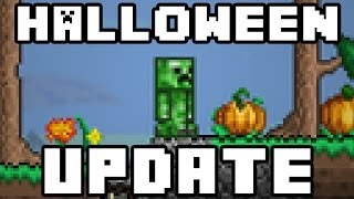 Terraria - Halloween Update coming to Terraria PC - Creeper outfit, pumpkins + more!