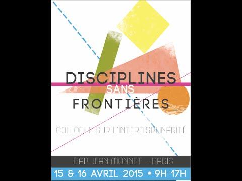Colloque Disciplines Sans Frontières