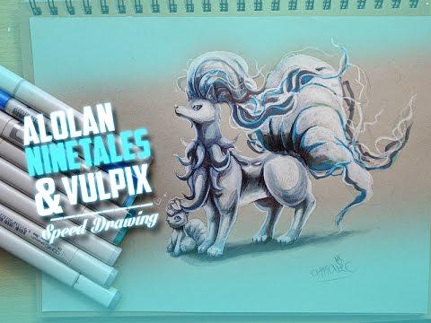 how to draw vulpix and ninetales