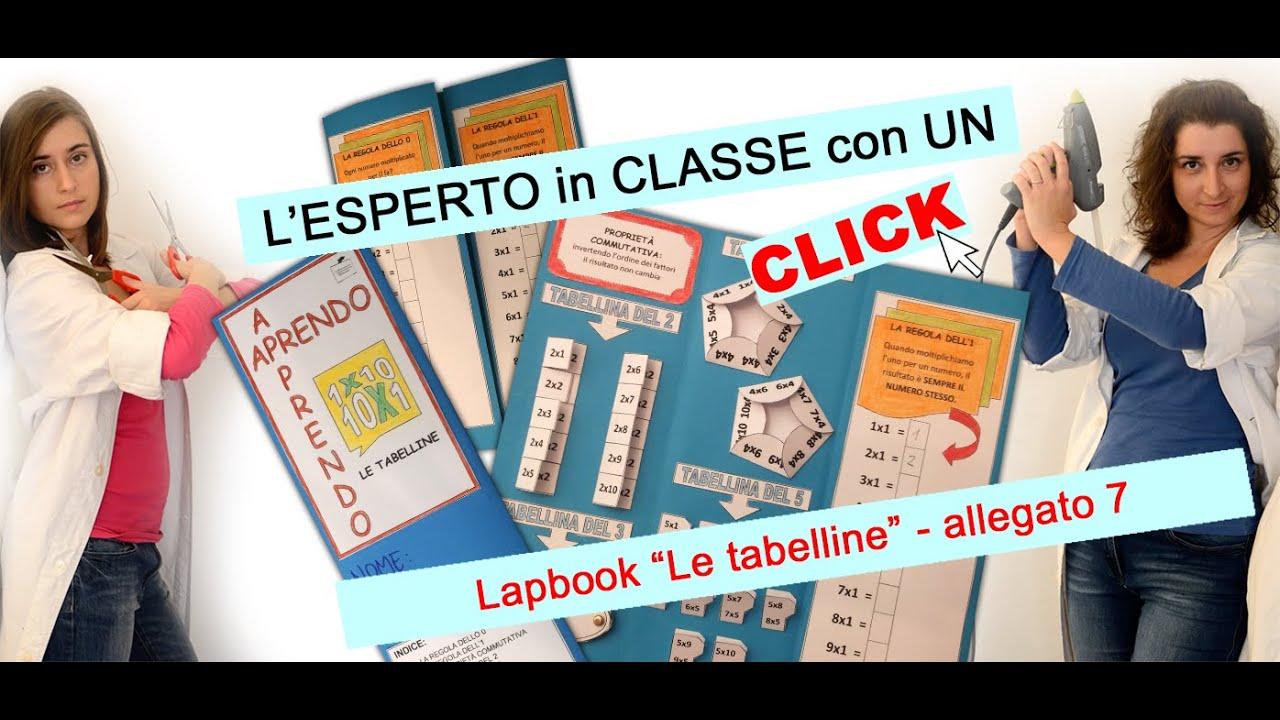 Aprendo Apprendo Lapbook Le Tabelline Allegato 7 Youtube