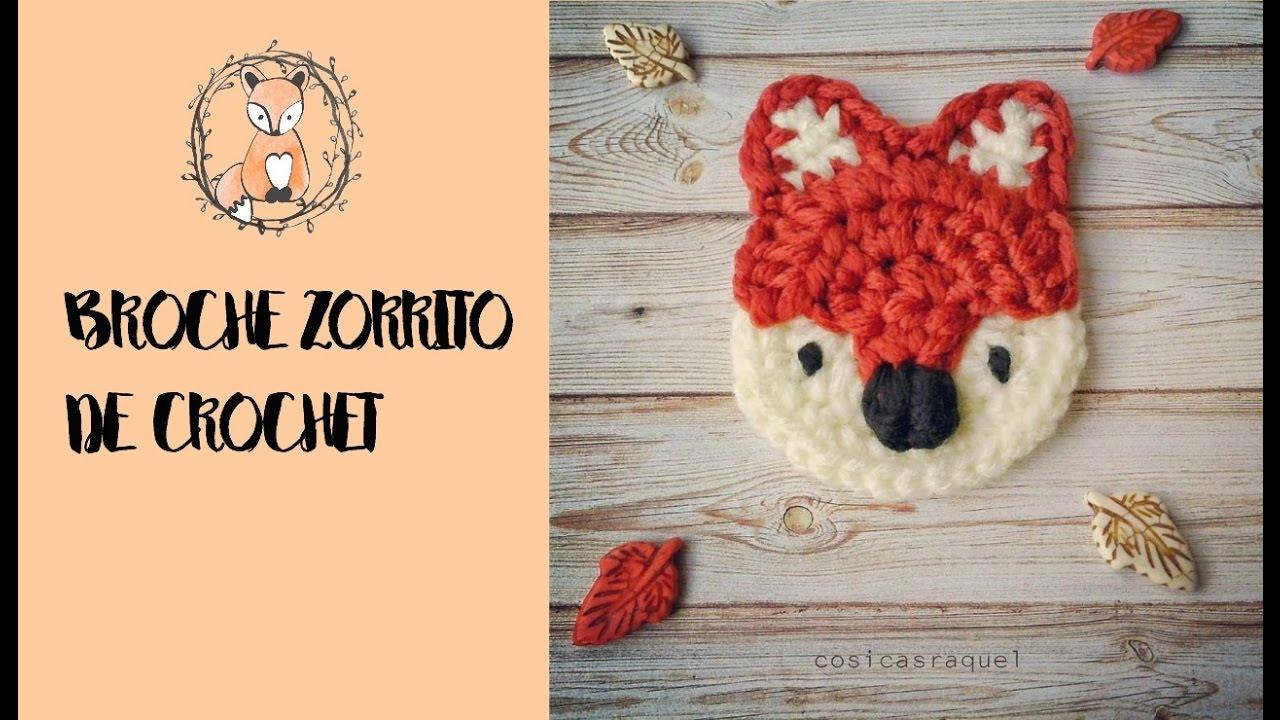 Broche Zorrito de Crochet/Foxy Crochet Brooch ( English Subtitles ...