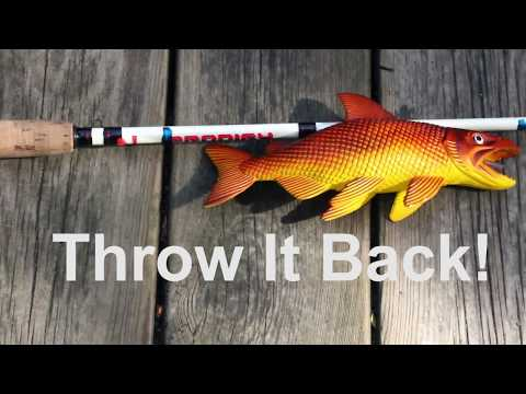 How-to Use A Nail Polish Marked Fishing Rod To Measure Fish Tutorial