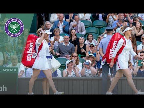 Elina Svitolina and Simona Halep take to Centre Court for Wimbledon 2019 semi-final