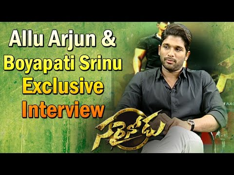 Exclusive Interview with Allu Arjun & Boyapati Srinu || #Sarrainodu || Vanitha TV