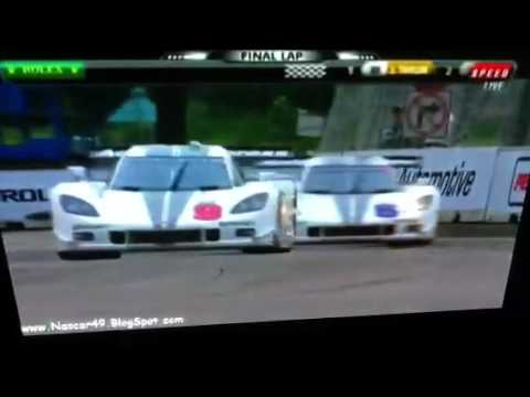 Rolex sports car series Grand am Detroit final laps and finish daytona prototype gt 2012