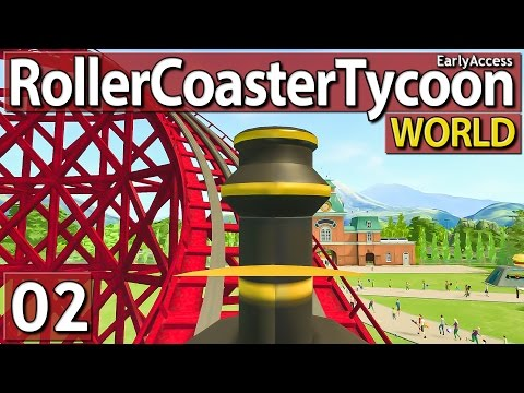 Roller Coaster Tycoon World #2 ERSTER COASTER deutsch german HD