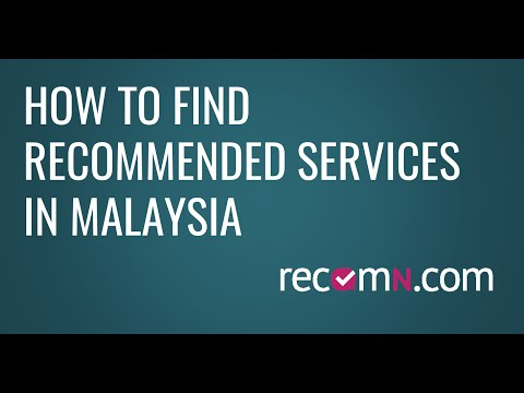 How to use RecomN.com to find great services in Malaysia