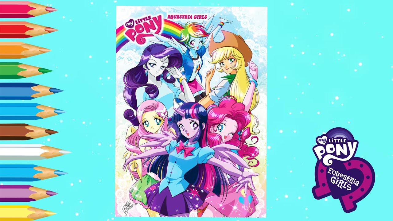 Coloring My Little Pony Equestria Girls Anime Face Coloring Pages Youtube