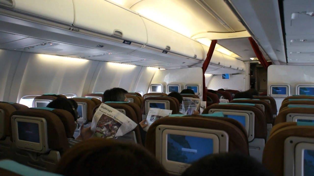 Garuda Indonesia Inside The B738 Aircraft In Singapore