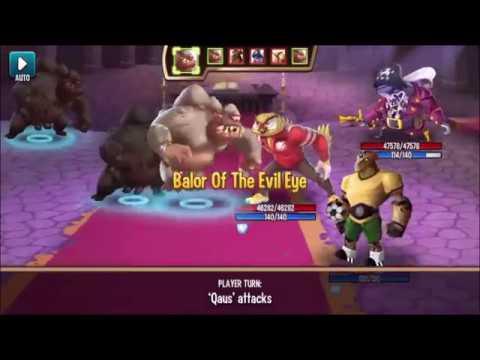 ☻ Monster Legends - Team Race Get Balor level 130 review combat Good Earth