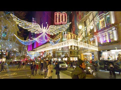 LONDON'S *BEST* CHRISTMAS WALK 🎄 Oxford Street 🎅 Regent Street 🇬🇧 Carnaby Street
