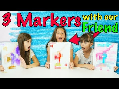 3 MARKER CHALLENGE with our Friend