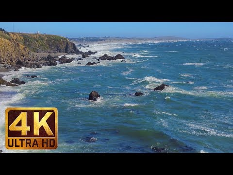 Californian Beach - 4K Ocean Relax Video - 5 Hours | Sonoma Coast State Park, Part 2