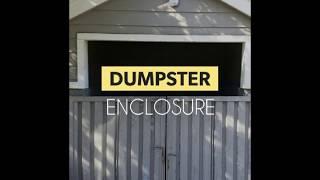 Dumpster Enclosure Extend Door Panels Corona