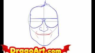 How to draw John Morrison, step by step