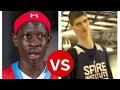 7'2 Foot Tall Bol Bol Vs. 7'7 Foot Tall Robert Bobroczky Basketball Highlight Mix