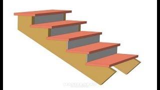 Как сделать черновую лестницу на второй этаж