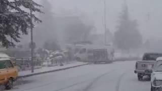 Almus meydandan kış görüntüleri