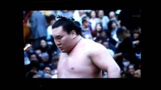 白鵬vs碧山 平成27年大相撲春場所 Hakuho vs Aoiyama SUMO.
