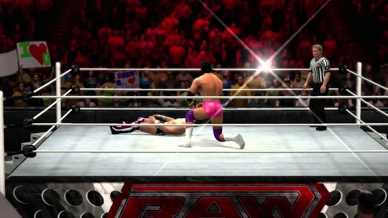 damien sandow hits his finisher in wwe 13 official