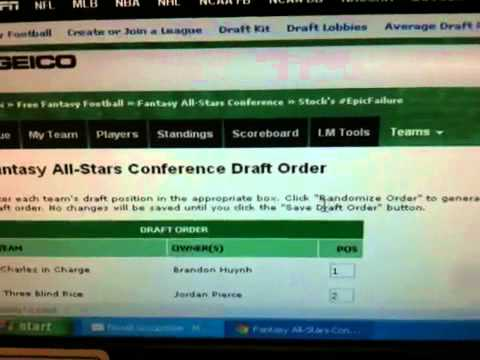 2012 All-Stars Lottery