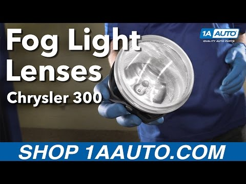 How to Replace Install Fog Light Lens 05-10 Chrysler 300