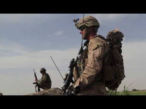 U.S. Marines Patrol in Afghanistan during Operation High Noon
