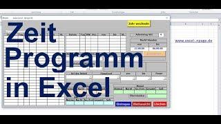 7 Zeiterfassungsprogramm in Excel VBA selber erstellen