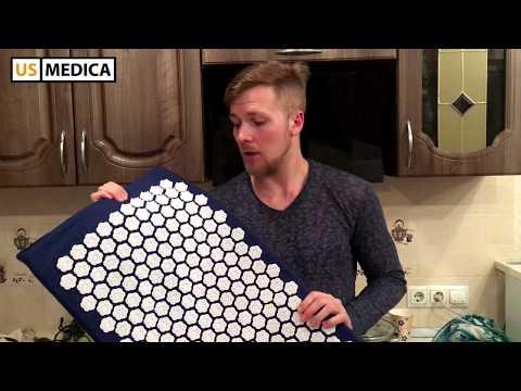 Видео отзыв акупунктурный коврик для спины US Medica Aura. Аппликатор Кузнецова (аналог)