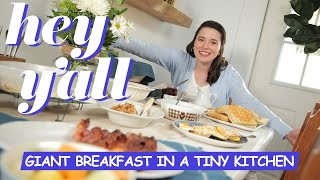 How To Make A Giant Breakfast In A Tiny Kitchen | Hey Y'all | Southern Living