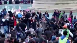 Garba @ Diwali 2015 celebrations on Trafalgar Square in LONDON