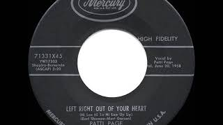 1958 HITS ARCHIVE: Left Right Out Of Your Heart - Patti Page YouTube Videos