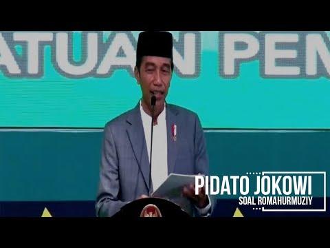 Pidato Jokowi soal Romahurmuziy