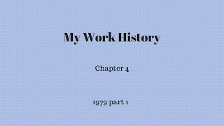 Gambar cover My Work History -  Chapter 4 part 1