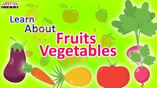 Learn About Fruits & Vegetables For Kids - Pre And Play School Learning Rhymes