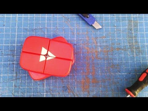 Como hacer un BOTÓN DE YOUTUBE 2x2  |🔨 TUTORIAL | modificacion cubo de rubik 2x2