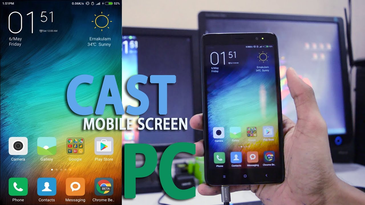how to cast mirror xiaomi phone screen to pc no root