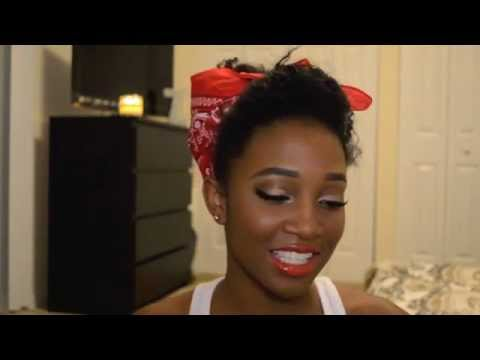 Rosie The Riveter Pin Up Girl Makeup And Hair Tutorial