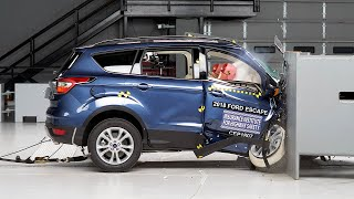 2018 Ford Escape passenger-side small overlap IIHS crash test