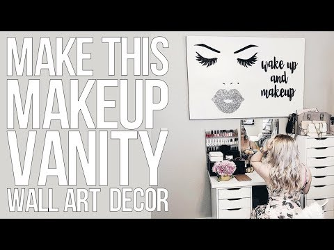 Makeup Vanity Canvas Decor Idea