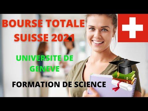 BOURSE SUISSE 2021 POUR DES ETUDES EN SCIENCE. Tuto candidature université de Genève.