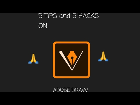 5 Hacks And 5 Tips When Drawing On ( ADOBE DRAW )