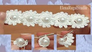 Crochet Mini Flower String Tutorial 115 Fjura Mini tal-ganċ