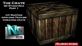 3D Low Poly Crate 3D Studio Max Part 1
