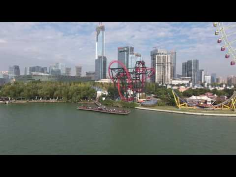 Suzhou Arts & Culture Centre and Suzhou Eye fly past