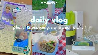 daily vlog : iphone 12 unboxing, picnic, horimiya + nct journal