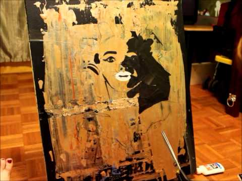 Marilyn Monroe Art Assemblage Collage