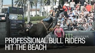 Professional Bull Riders Hit the Beach