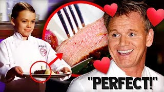 10 Times Gordon Ramsay LOVED THE FOOD!