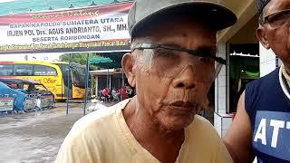 Kakek Tua Ini Ucapkan Terimakasih Kpd Kapoldasu Irjen Pol Agus Andrianto.